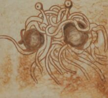 Blessed Noodly Appendages On Toast 2013 Sticker