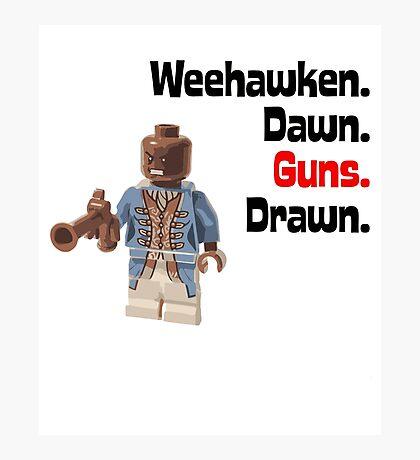 Weehawken Dawn Guns Drawn Brick Figure Graphic Photographic Print