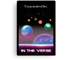 See You in the 'Verse - SciFi Poster Canvas Print