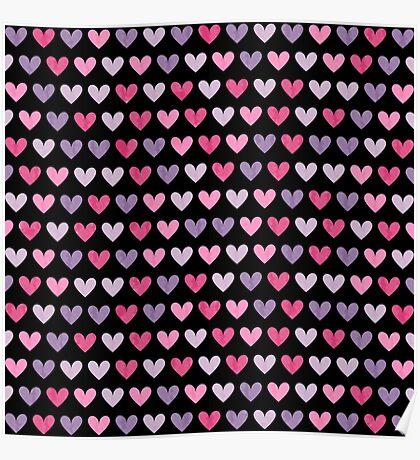 Colorful hearts VI Poster