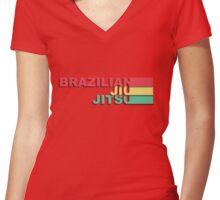 Brazilian Jiu-Jitsu Women's Fitted V-Neck T-Shirt