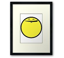 Happy Face (Yellow) Framed Print