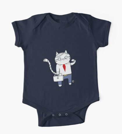 Business Cat One Piece - Short Sleeve