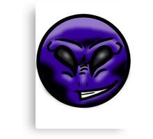 Alien Face (Purple) Canvas Print