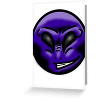 Alien Face (Purple) Greeting Card