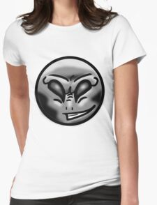 Alien Face (Grey) Womens Fitted T-Shirt