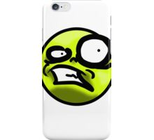 WTF Face (Yellow) iPhone Case/Skin