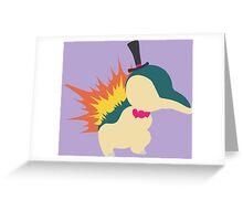 Cyndaquil Minimalist Greeting Card
