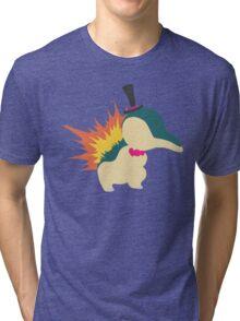 Cyndaquil Minimalist Tri-blend T-Shirt