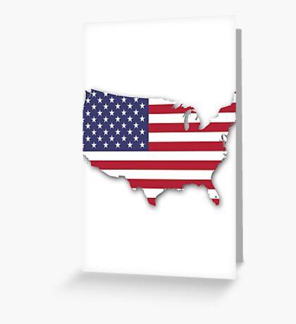 America Map Greeting Card