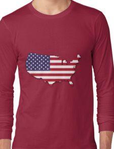America Map Long Sleeve T-Shirt