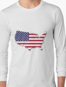America Map Long Sleeve T-Shirt