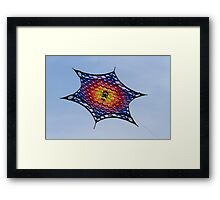 colorful kites flying in the sky Framed Print