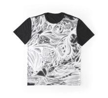 Zen Doodle 1A Black White Glow Graphic T-Shirt