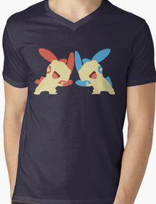 Plusle & Minun Minimalist Mens V-Neck T-Shirt