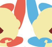 Plusle & Minun Minimalist Sticker