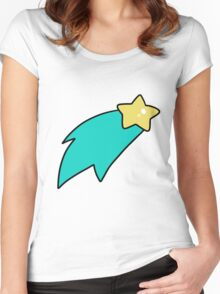 Blue Shooting Star Women's Fitted Scoop T-Shirt