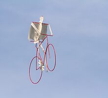 colorful kites bicycle  flying in the sky by spetenfia