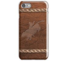 Rodeo Theme - Bull Rider, Leather & Rope iPhone Case/Skin
