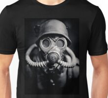 WWII German Solider in a Gas Mask Unisex T-Shirt