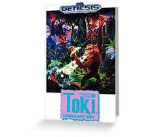Toki: Going Ape Spit - SEGA Genesis Box Art Greeting Card