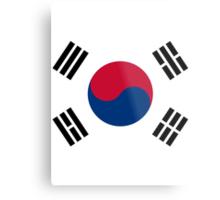 Living Korea Flag Metal Print