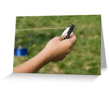 hand and kite Greeting Card