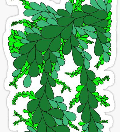 Leaves - green Sticker