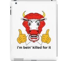 Ronald McCow vegan design iPad Case/Skin