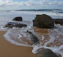 Sand and Rocks. Caloundra. by Ian Hallmond