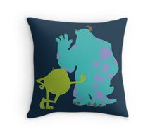 Mike Wazowski and James P. Sullivan (Mike and Sulley) - Monsters Inc Throw Pillow