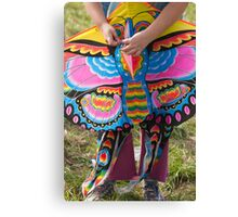 colorful kites flying in the sky Canvas Print