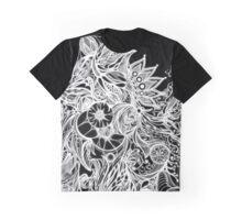 Zen Doodle 3A Black White Glow Graphic T-Shirt