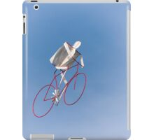 colorful kites bicycle  flying in the sky iPad Case/Skin
