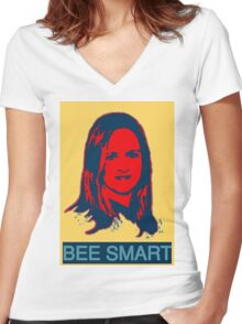 Samantha Bee Women's Fitted V-Neck T-Shirt