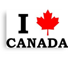 I Love Canada  Canvas Print