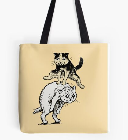 Cats Playing With Each Other Tote Bag