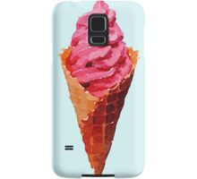 Strawberry Ice Cream Watercolor Samsung Galaxy Case/Skin