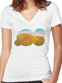 Fall Colors (shirt/hoodie) Women's Fitted V-Neck T-Shirt