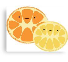 Orange & Lemon Friends Canvas Print