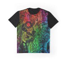Zen Doodle 3A Rainbow Black Graphic T-Shirt