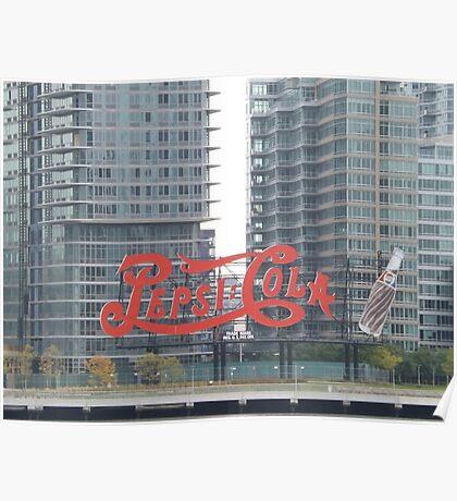 Historic Pepsi Cola Sign, Long Island City, New York Poster