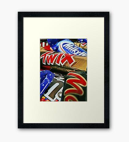 Candy Bars Print- Mars, Twix, M&M Framed Print