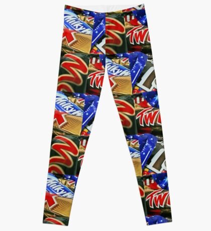 Candy Bars Print- Mars, Twix, M&M Leggings