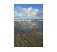 Sandstone platform. Caloundra Headlands. Art Print