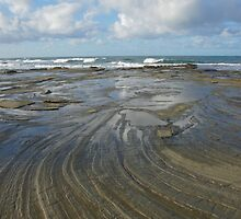 Sandstone platform. Caloundra Headlands. by Ian Hallmond