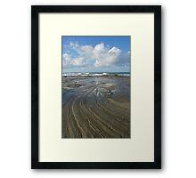 Sandstone platform. Caloundra Headlands. Framed Print