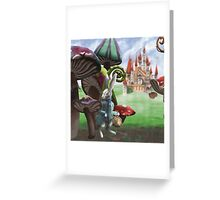Rabbit in the Wonderland Toadstool Forest Greeting Card