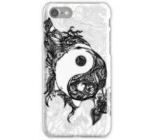 Zen Doodle Yin Yang Black Ink Ornate iPhone Case/Skin