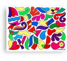 FREE FORMATION IN ECOLINE Canvas Print